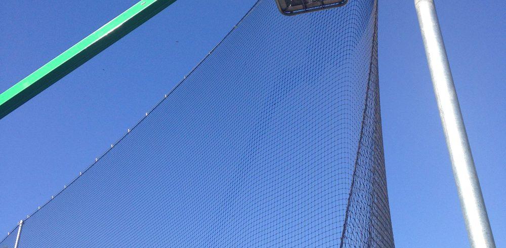 Baseball-backstop-installation